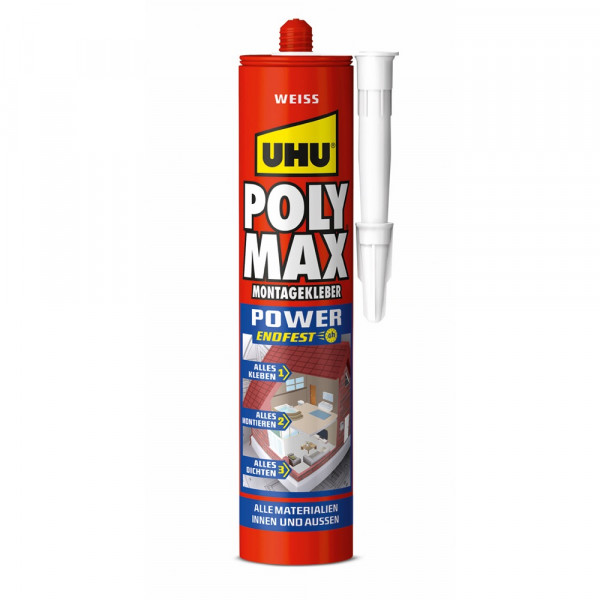 UHU GLUE MOUNT SEAL white, cartridge 425g