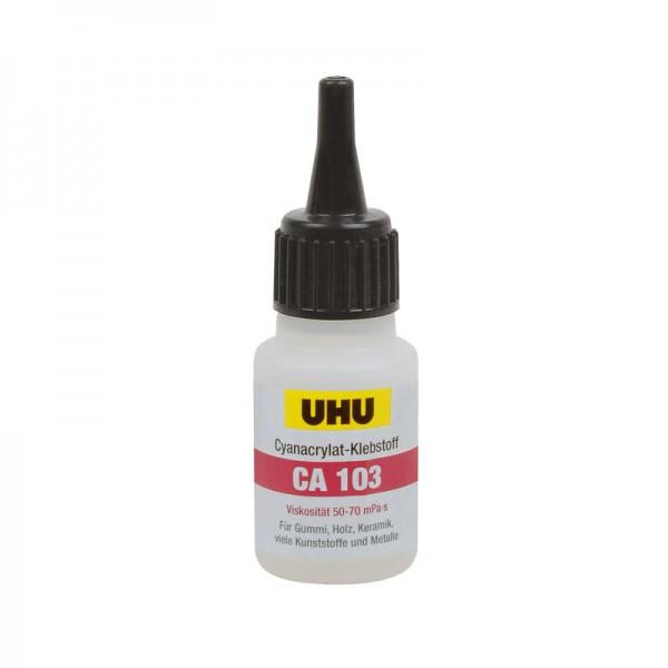 UHU CA 103 - low viscosity / universal - gap-bridging up to 0,03 mm, bottle 20g