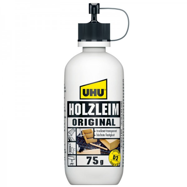 UHU HOLZLEIM ORIGINAL EN 204 (D2), ohne Lösungsmittel, Flasche 75g
