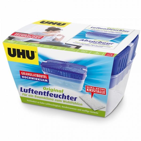 UHU Air Max Luftentfeuchter, Originalpackung inkl. Nachfüllbeutel 1000g
