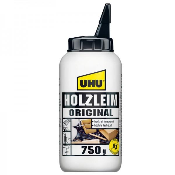 UHU HOLZLEIM ORIGINAL EN 204 (D2), ohne Lösungsmittel, Flasche 750g