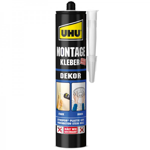UHU CONSTRUCTION ADHESIVE DEKOR, cartridge 440g