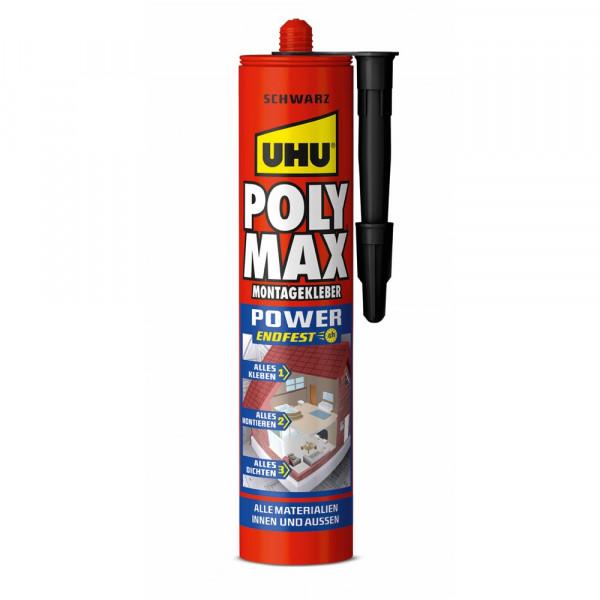 UHU POLY MAX POWER SCHWARZ, Kartusche 425g