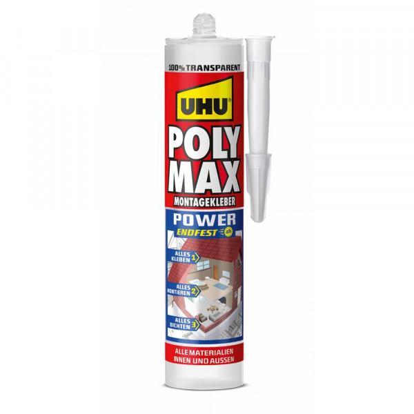 UHU POLY MAX POWER TRANSPARENT, Kartusche 300g