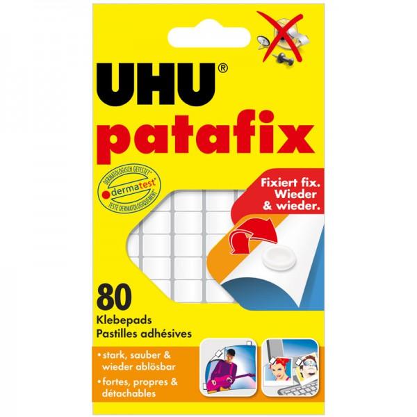 UHU patafix weiß, wieder ablösbare Klebepads, 80 Stück