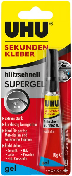 UHU SUPER GLUE ultra-fast SUPERGEL, Tube 10g